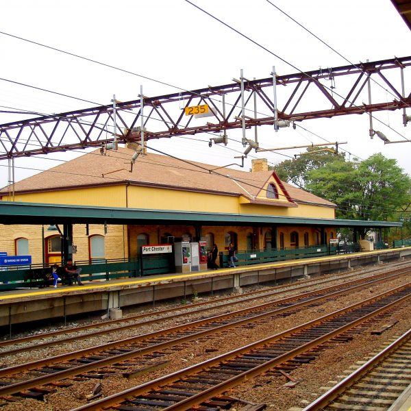 Port Chester NY railroad station